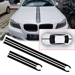 Black / Red JDM Hood Stripe Sticker Sporty Racing Car Body Rear Trunk Vinyl Decal Trim for BMW 1 2 3 5 6 7 Series