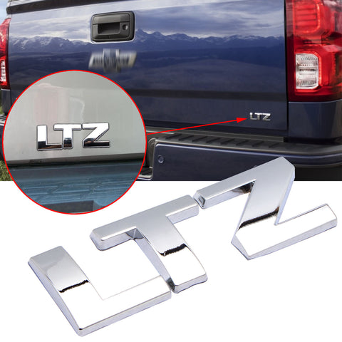 1pcs for Chevrolet Chrome LTZ Letter Emblem Badge for Car Door Front Hood Rear Trunk Tailgate Side Fender, Luggage Laptop Badge Sticker