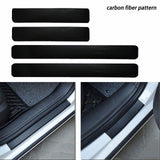 4 x Car Carbon Fiber Pattern Door Sill Pedal Protector Sticker Anti-Scratch Decal