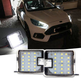 2x Error Free Side Under Mirror Puddle Light Kit for Ford Focus Escape 2015+ - 18-SMD Xenon White