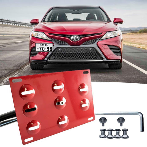 Black/ Gold/ Red Tow License Plate Bumper Mount Bracket Fit Toyota Camry 2018