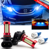 Ice Blue LED Daytime Running Light Bulbs DRL for Honda Accord 2008-2017, Fit Honda Civic 2008-2015