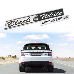 Black & White Limited Edition Letter Emblem Tailgate Side Fender Sticker for Land Rover