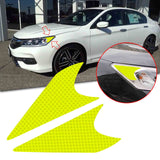 2pcs for Honda Accord 2016 2017 Headlight Reflective Warning Sticker PVC Headlamp Safety Overlay Decal, Fluorescent Yellow
