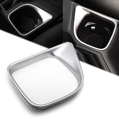 1pcs ABS Chrome Car Interior Cup Holder Panel Frame Cover Trim for Toyota RAV4 2016-2018