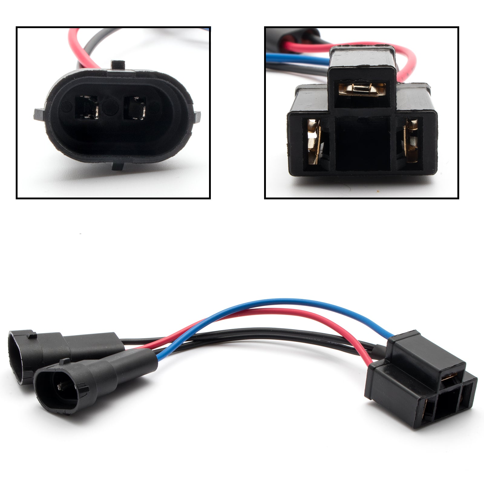 2pcs H11 H9 to H4 Conversion Wiring Harness Cable Socket ... H Wiring Harness Headlights on