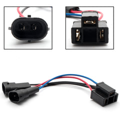 2pcs H11 H9 to H4 Conversion Wiring Harness Cable Socket Plug Adapter for Harley Davidson Road King Dual Beam Headlight
