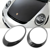 Carbon Fiber Headlight Eyelid Cover Overlay Trim Decal for Porsche 911 Carrera 997 2005-2012