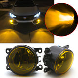Golden Yellow Fog Light with H11 Halogen Bulb for Honda Civic Accord CR-V Pilot Fit Crosstour CR-Z Insight, OEM Replacement Fog Lamp Assembly Driver Passenger Side