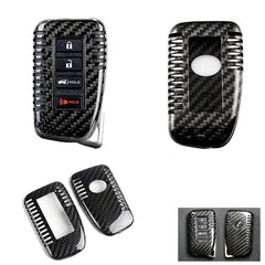 1 Set Real Carbon Fiber Key Case Cover For Lexus 2013-2017 Keyless Entry Smart Fob