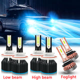 6pcs for Ford F250 F350 F450 F550 2005-2019 LED Headlight High Low Beam Fog Light Bulb Ice Blue 8000K, Super Bright LED Headlight Fog Lamp Combo Set