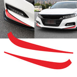 2x Red Vinyl Front Fog Light Eyelid Eyebrow Sticker Decal Molding Trim for Honda Accord 2018 2019