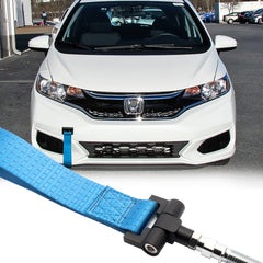 Blue / Black / Red JDM Style Tow Hole Adapter with Towing Strap for Honda Fit Acura TL S2000 AP1 AP2