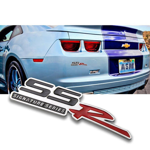 SSR Signature Series Emblem Decal for Car Side Fender Door Rear Trunk for Chevrolet, Luggage Laptop Badge