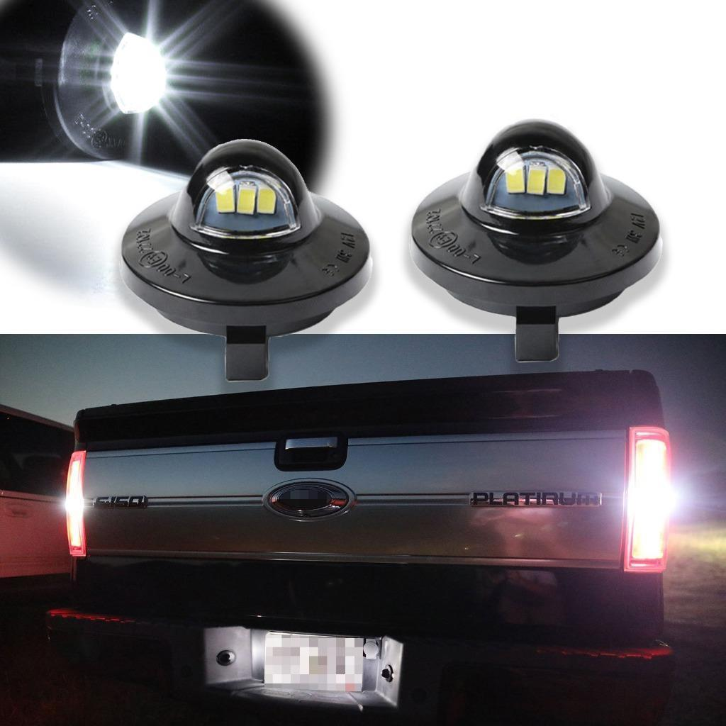 6000K Diamond White 2 Packs Full LED License Plate Light YUERSEAK Tag Lamp Assembly Replacement for Ford F-150 F-250 F-350 F-450 F-550 Ranger Pickup Truck Explorer Bronco Excursion Expedition