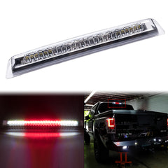 Chrome / Smoked Housing LED 3rd Third Brake Tail Light High Mount Stop Cargo Lamp for Nissan Titan 2004-2015, Super Bright 26-SMD