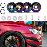 JDM Quick Release Fasteners For Car Bumpers Trunk Fender Hatch Lids[Neo / Purple / Blue / Red / Blue / Silver Chrome / Gold / Black]
