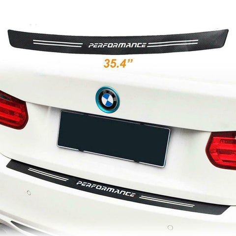 90cm \ 101cm BMW Trunk Carbon Fiber Texture Decal Bumper Guard Protector Decor Sticker
