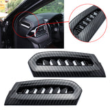 2pcs Carbon Fiber Style Side Console Air Conditioning AC Vent Outlet Cover Frame Trim for Toyota Camry 2018 2019 2020