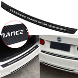 Carbon Fiber Pattern Rear Trunk Sill Scratch Protector Vinyl Decal Rear Bumper Guard Sticker Trim for BMW 1 2 3 4 5 6 7 Series M3 M4 Z4, 35.43""