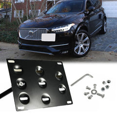 JDM Aluminum Bumper Tow Hook License Plate Mount Bracket for Volvo XC90 S90 2015-up
