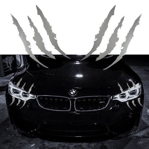 Vinyl Headlight Taillight Claw Scar Scratch Decal Monster Stripe Decor Sticker Black/ Green/ Red/ Silver/ Gold