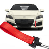 Blue / Black / Red JDM Style Tow Hole Adapter with Towing Strap for Honda Fit Insight CR-Z