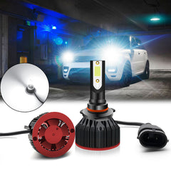 6000K Xenon White LED Headlight Bulb All-in-One Conversion High Low Beam Kit, 6000LM Super Bright Fog Light Replacement