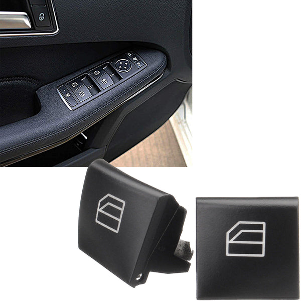 Qiilu Power Window Master Switch Button Cover Caps for Mercedes-Benz ML GL R Class 05-12 Replacement 2 Pack