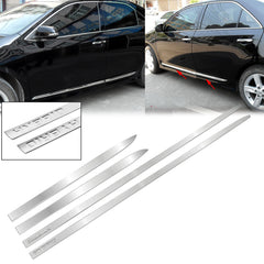 4x Chrome Stainless Steel Car Body Door Side Molding Trim Cover for Toyota Camry 2018 2019