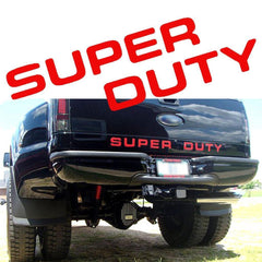 Xotic Tech SUPERDUTY Letter Decal Rear Tailgate Vinyl Sticker for 2008-2016 Ford Super Duty Glossy Red