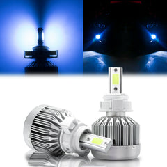 2pcs H16 5202 COB LED Bulb Ice Blue 8000K for DRL Driving Fog Light Replacement