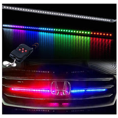 "Universal 24"" Remote RGB LED Scanning Knight Rider LED Strip Light for Hood Grille Grill"