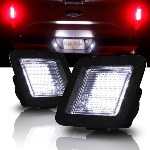 Xenon White LED License Number Plate Light Kit for Ford F-150 2015-up - Direct Fit Error Free - 18-SMD