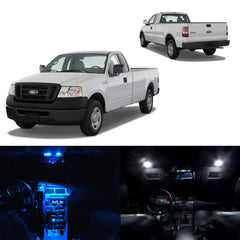 7x Light Bulbs White\ Blue SMD Interior LED Lights Package Kit For 2004-2008 Ford F-150 F150