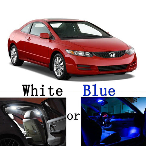 2006 - 2012 6-Light LED Interior Lights Package Kit for Honda Civic Sedan & Coupe[White\ Blue]