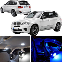 2007 - 2013 BMW E70 X5 17x-Light SMD Full LED Interior Lights Package Kit White \ Blue