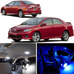 6-Light LED SMD Full Interior Lights Package Kit White\ Blue for Toyota Corolla 2008 - 2013