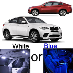 2008 - 2014 16x-Light SMD Full SMD LED Interior Lights Package Kit FOR BMW E71 X6 White\ Blue