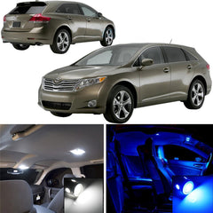 8x-Light SMD Full LED Interior Lights Package Kit 2009 - 2014 Toyota Venza [White\ Blue]