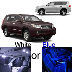 2010 - 2014 12x-Light LED SMD Full Interior Lights Package Kit for Lexus GX460 White\ Blue