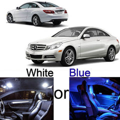 2010 & up Coupe 5-Light LED Interior Lights Package Kit for Mercedes W212 E-Class White\ Blue