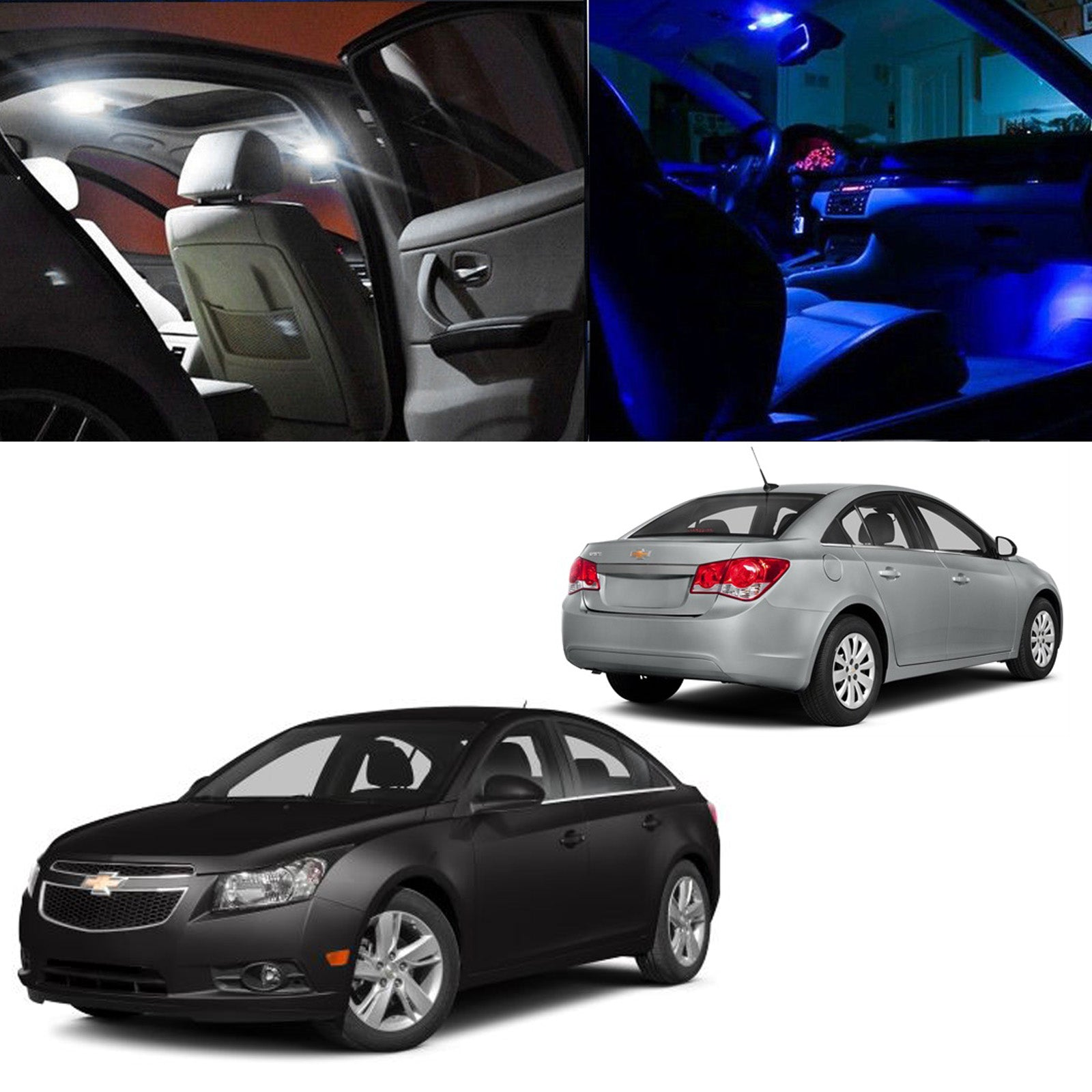 2011-2014 Chevy Cruze 6x Light Bulbs SMD Interior LED Lights Package