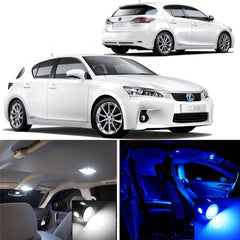 2011 and up Lexus CT200h 6-Light LED Full Interior Lights Package Kit White\ Blue