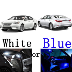 2013 and up 10-Light LED Full Interior Lights Package Kit for Lexus ES350 ES300h White\ Blue