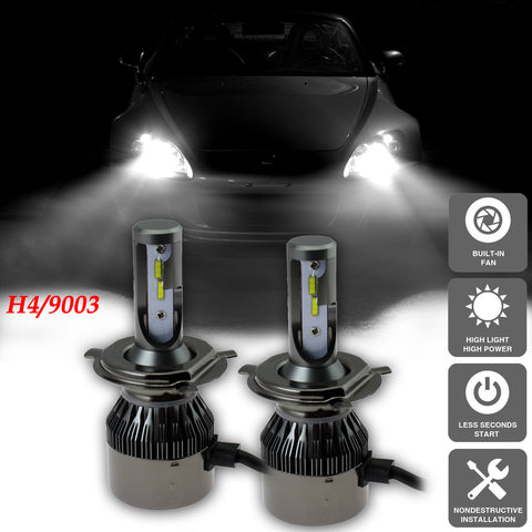 Xenon White 9003 H4 LED Bulbs Headlight High Low Beam Conversion Kit Honda Hyundai Jeep Kia