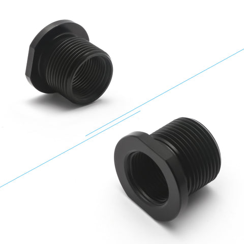 Aluminum Barrel Thread Adapter 5.56 to .308 1/2 x 28 ID to 5/8 x 24 OD