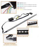 "Universal 21"" Remote RGB LED Scanning Knight Rider LED Strip Light for Hood Grille Grill"
