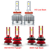 LED Headlight Combo Kit High Low Beam Fog Light Bulbs for Honda Accord 2013 2014 2015