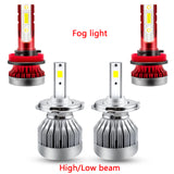 4pcs for Toyota Tundra 2014-2019 LED Headlight Low High Beam Fog Light Bulbs Package Combo Kit Super Bright Xenon White 6000K